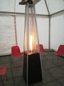 nagrzewnica gazowa przenośna w namiocie